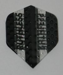 3 Sets (9 flights) Ruthless BLACK Embossed Mini Dart Flights - 4380