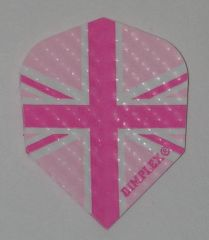 3 Sets (9 flights) Dimplex Standard PINK UNION JACK Flights - 4035