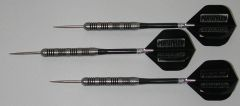 POWERGLIDE 25 gram Steel Tip Darts - 80% Tungsten, Knurled Grip -Style 2