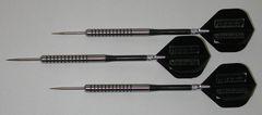 POWERGLIDE 18 gram Steel Tip Darts - 80% Tungsten, Ringed Grip -Style 11