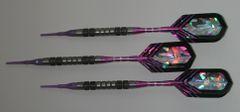 DYNAMITE 18 gram Soft Tip Darts - Contoured Grip 80% Tungsten - Convertible - Steel/Soft Tip Darts DY1