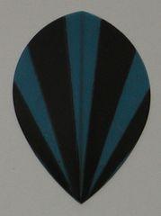 3 Sets (9 flights) BLUE STRIPES Pear Poly Flights 3537