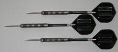 POWERGLIDE 27 gram Steel Tip Darts - 80% Tungsten, Knurled Grip -Style 2
