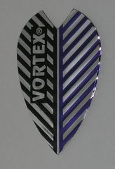 3 Sets (9 flights) Vortex Full Size BLACK/BLUE Flights -9005