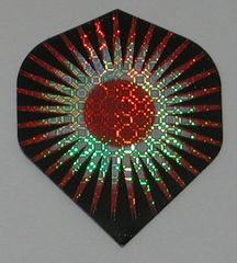 3 Sets (9 flights) RED TRIBAL STAR Standard Holographic Flights - 6035