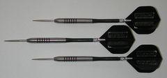 POWERGLIDE 23 gram Steel Tip Darts - 80% Tungsten, Ringed Grip -Style 5