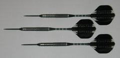 P4 BlackLine 21 gram Steel Tip Darts - 80% Tungsten, Medium Grip - Style 4