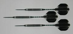 P4 BlackLine 21 gram Steel Tip Darts - 80% Tungsten, Aggressive Grip - Style 1