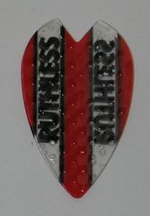 3 Sets (9 flights) Ruthless RED Embossed Mini Vortex Dart Flights - 4392