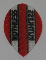 3 Sets (9 flights) Ruthless Embossed (Dimplex Style) Pear RED Flights - 4330