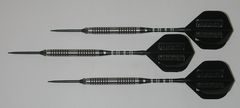 P4 BlackLine 21 gram Steel Tip Darts - 80% Tungsten, Ringed Grip - Style 2