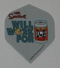 2 Set (6 flights) Simpsons Bart Homer Duff Standard Dart Flights - Simp03