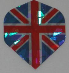 3 Sets (9 flights) UNION JACK ENGLAND Standard Holographic Flights - 6446