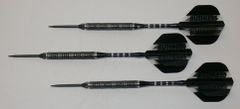 P4 BlackLine 21 gram Steel Tip Darts - 80% Tungsten, Aggressive Grip - Style 3