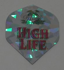 2 Set (6 flights) Miller High Life Holographic Standard Dart Flights