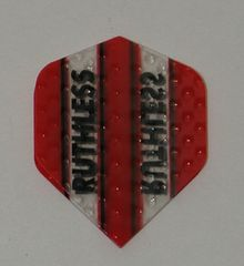 3 Sets (9 flights) Ruthless RED Embossed Mini Dart Flights - 4381