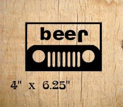 Beer-Jeep Decal