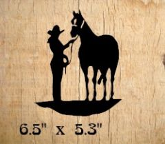 Cowgirl-Horse Decal