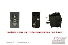 Switch with Incandescent Light, SPST ON-OFF V-Series , Body Only, No Rocker