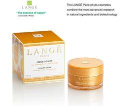 LANGE Paris luxury phyto-cosmetics EXTREME VITALITY DAY CREAM Revitalizing Toning Energizing Antioxidizing