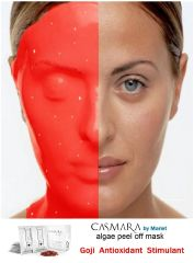 CASMARA MASKS Pack of 3 GOJI Antioxidant Stimulating Moisturizing luxury peel off facial masks + FREE GIFT Mixing bowl + Casmara spatula