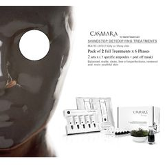 CASMARA SHINE STOP DETOXIFYING MATTE EFFECT OILY 2x6 phases peel off mask treatments