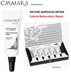 CASMARA 5 REPAIR facial Ampoules REGENERATING,SOOTHING-enhance peel off mask results