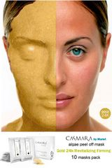 CASMARA masks 10 GOLD 24k REVITALISING,FIRMING luxury peel off facial masks
