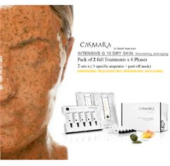 CASMARA INTENSIVE Q10 REJUVENATING ANTI AGING 2x6 phases peel off mask treatments