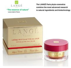 LANGE Paris luxury phyto-cosmetics PHYTO-ACTIVE DAY CREAM Gold carat line LIFTING & FIRMING RESTORE SKIN ELASTICITY