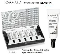 CASMARA 5 ELASTIN facial Ampoules Firming,Soothing,Anti-aging-enhance peel off mask results
