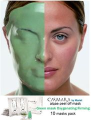 CASMARA masks 10 GREEN OXYGENATING FIRMING - 2025 luxury peel off facial masks