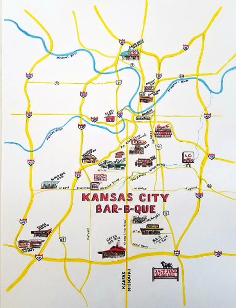 Kansas City Bar-B-Que Map | Art From Architecture
