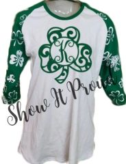 St. Patrick's Day Custom Raglan