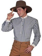 Four Button Striped Pullover