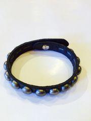 Vintage Nickel Dome Bracelet