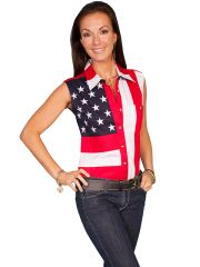 Patriot Stars & Stripes Sleeveless Blouse