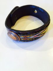 Tapestry Indian Heads Bracelet