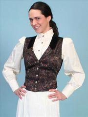 WahMaker Paisley Vest With Black Velvet Lapels