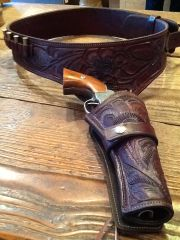 Tooled Leather Buscadero Gun Belt