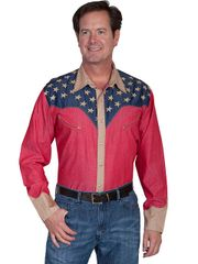 Patriot Stars & Stripes Cotton & Jute Shirt