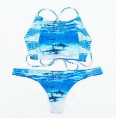 """Shark Kini"" Bikini Top - Collaboration with Kokoh Bikini"