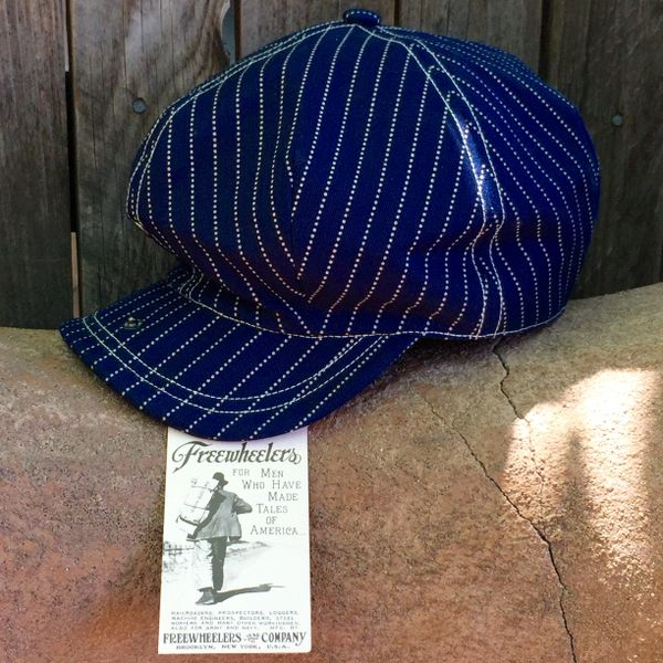WABASH DENIM FREEWHEELERS NEWSBOY CAP
