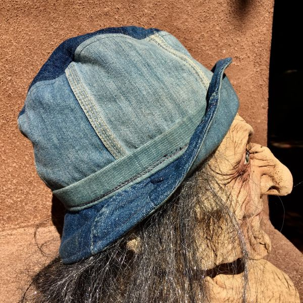 SOLD 1970s PATCHWORK DENIM BUCKET HAT