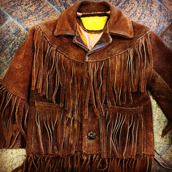1960s WESTERN TODLER COWBOY or COWGIRL FRINGED SEUDE LEATHER