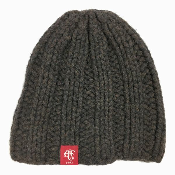 DARK BROWN BERCROMBIE ANGORA & SYNTHETIC MIX KNIT BEANIE