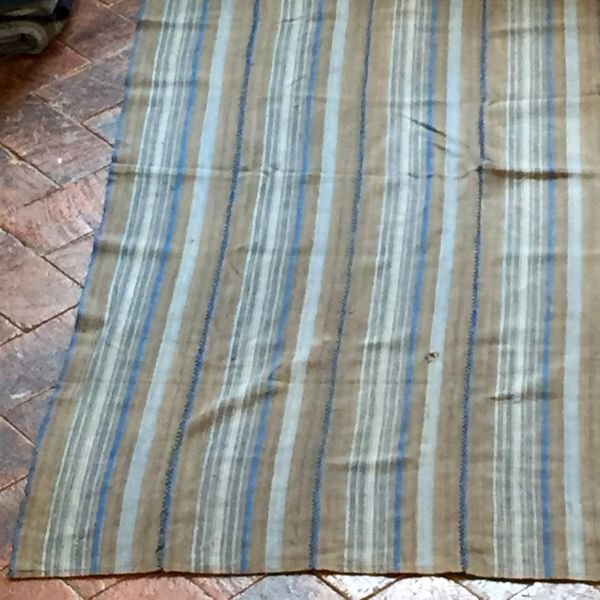 "43 GREY & INDIGO STRIPED 36"" X 54"""