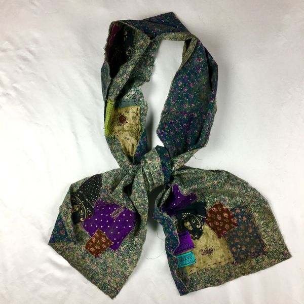 FILTHY FLORAL SCARF: COWBOY'S BORDELLO BOUDOIR REMNANTS OF ROMPS