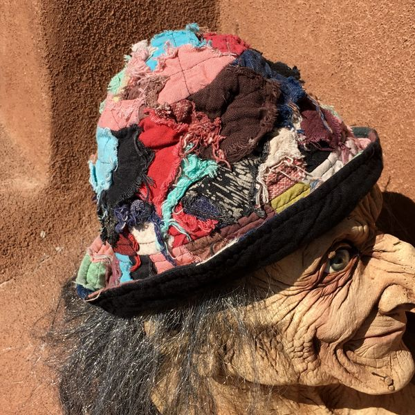 SOLD COTTON COLORFUL PATCHWORK BUCKET HAT #2