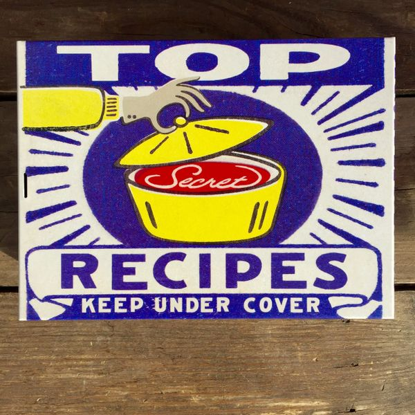 SOLD TOP SECRET RECIPES STASH BOX TIN
